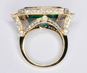 Settings on vintage rings are stunning--and a third the price of new settings.