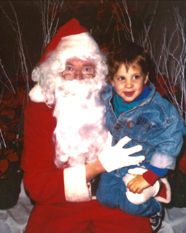 Max Banerjee, age 2, tells Santa what he wants for Christmas.