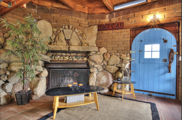 Tiny house with fireplace