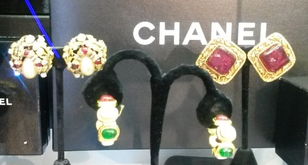 Chanel earrings at Peregrine Galleries