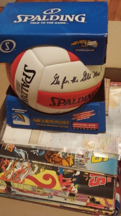 Volleyball signed by Olympic champion Karch Kiraly