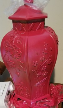 Cherry red lamp base